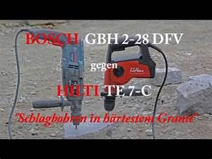 Bohrhammer Gbh 2 28 Dfv : bosch gbh 2 28 dfv vs hilti te 7 c bohrhammer youtube ~ Orissabook.com Haus und Dekorationen