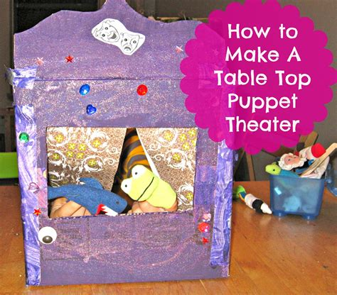 easy diy table top puppet theater  tiny apartments