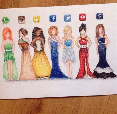 awesome beautiful drawing dress facebook fashion