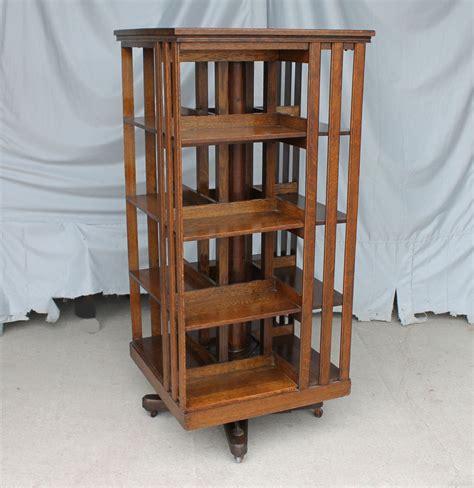 Antique Revolving Oak Bookcase  Original Finish Danner