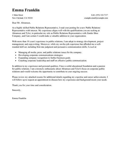 best relations cover letter exles livecareer