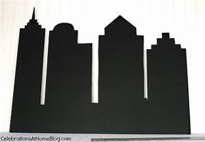 DIY :: Make a Cityscape Backdrop - Celebrations at Home