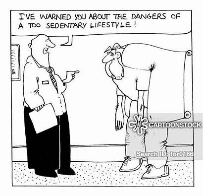 Sedentary Passive Cartoon Activity Funny Cartoons Lifestyle