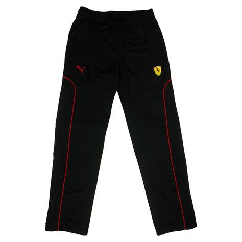 Чоловічі штани ferrari track pants подарують своїм власникам комфорт. Mens Boys Puma SF Scuderia Ferrari Black Pants Tracksuit ...
