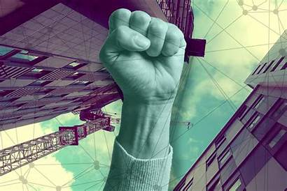 Powerful Companies Iot Network Power Fist Rise