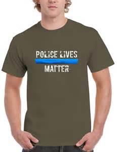 Blue Shirt Police Officer Lives Matter