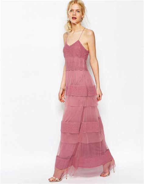 asos maxi sukienka zgaszony r 243 ż falbanki koronka w suknie i sukienki szafa pl