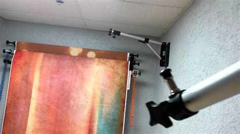 wall mounted light stands in the studio