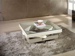 Table Basse Design Verre : table basse design verre table basse de salon design maisonjoffrois ~ Teatrodelosmanantiales.com Idées de Décoration