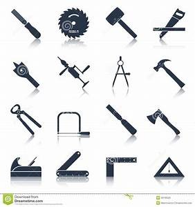 Carpentry Tools Icons Black Stock Vector - Image: 46130525
