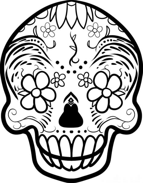 Desenho de Caveira Mexicana: 30 Modelos Artesanato Passo