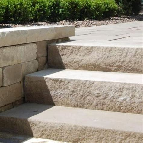Indiana Limestone Steps Detail  Old Fort Building Supply