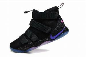 Nike LeBron Soldier 11 Black Purple Pink | 2017 Air Jordan ...