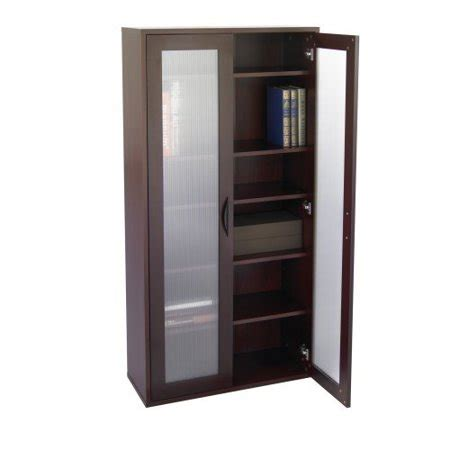 Walmart Bookcase With Glass Doors by Storage Bookcase With Glass Doors Mahogany
