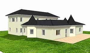 Bungalow Mit Atrium : atrium 289 30 12 ansicht 3 1 bungalow mit turm schloss einfamilienhaus neubau massivhaus stein ~ Frokenaadalensverden.com Haus und Dekorationen
