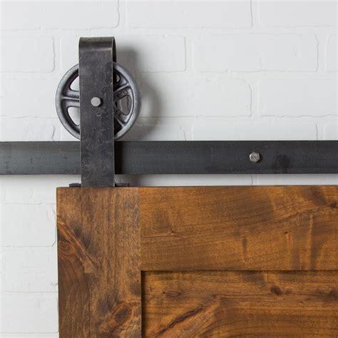 barn door hardware vintage loop top mount flat track hardware