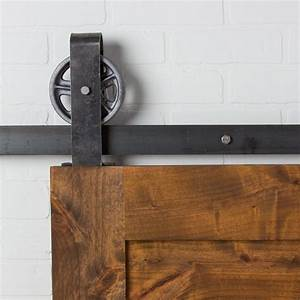 vintage loop top mount flat track hardware With barn door tracking mount
