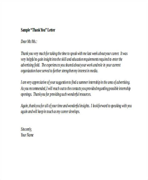 A Thank You Letter For An by 74 Thank You Letter Exles Doc Pdf Exles