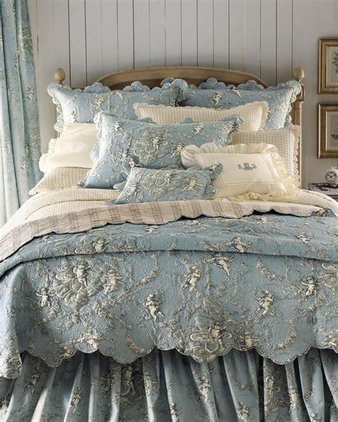 blue white toile bedding quot cherubs quot bed linens