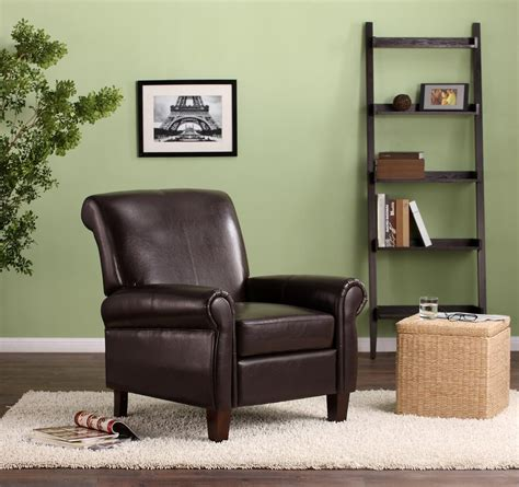 dorel living faux leather club chair brown