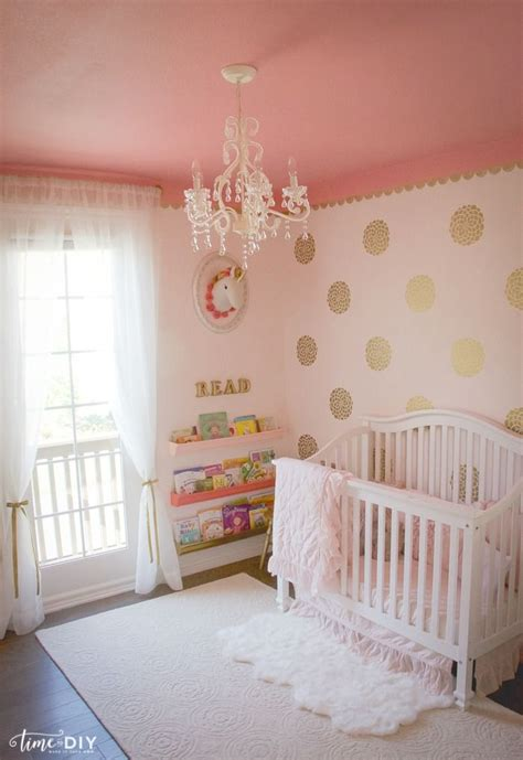 pink gold nursery ideas  pinterest