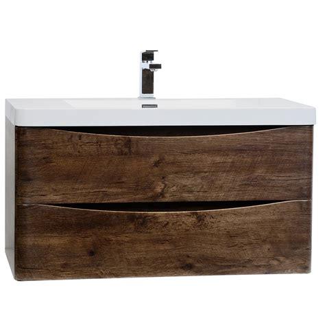 wall mount vanity buy merida 35 5 quot wall mount bathroom vanity in rosewood tn