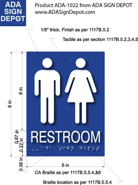ada restroom sign height 35 restroom sign height ada bathroom signs commercial