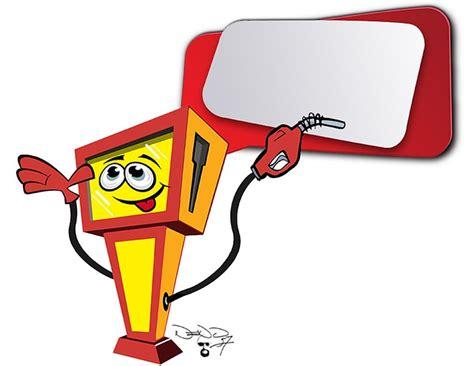 Cartoon, Petrol, Gas Pump