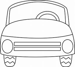 Black and White Car Clip Art - Black and White Car Image