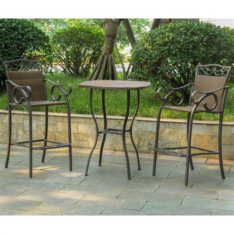 3 pc patio bistro set in antique brown 4110 s3 abn