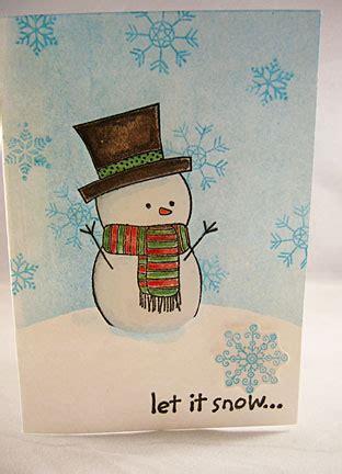 snowman christmas cards snowflakes   snow