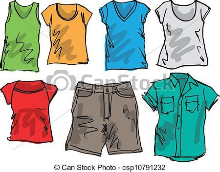 Summer clothing sketch collection. vector illustration vectors - Search Clip Art Illustration ...
