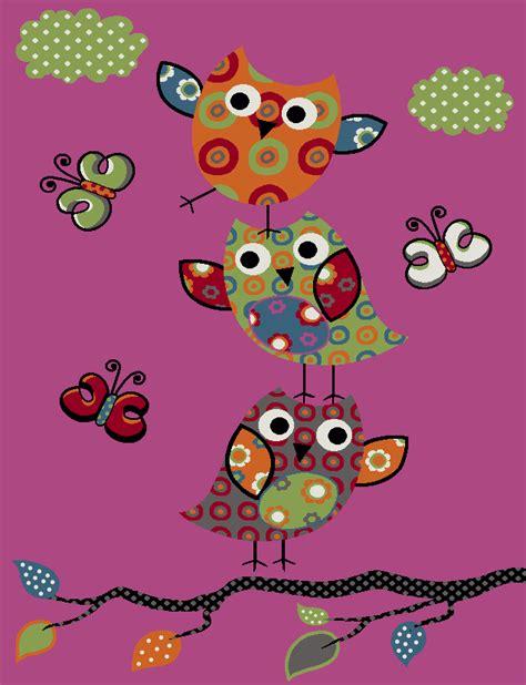 tappeti fucsia tappeto per bambini gufetti rosa fucsia tapetto24