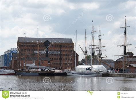 alexandra warehouse gloucester docks editorial stock photo