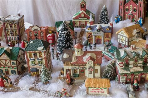 create  christmas village display tutorial