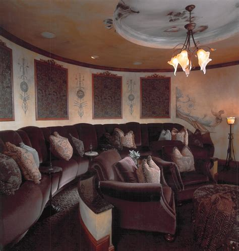 diy home theater decor home theater transitional with