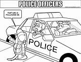Police Coloring Report Colouring Officers Pages sketch template