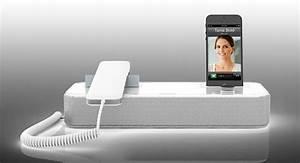 Combiné Téléphone Fixe : audioffice l accessoire geek qui transforme votre iphone en t l phone fixe soocurious ~ Medecine-chirurgie-esthetiques.com Avis de Voitures