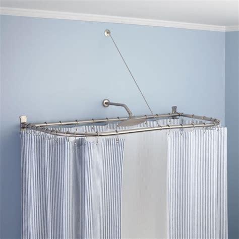Oval Shower Curtain Rod For Clawfoot Tub  Bathtub Designs