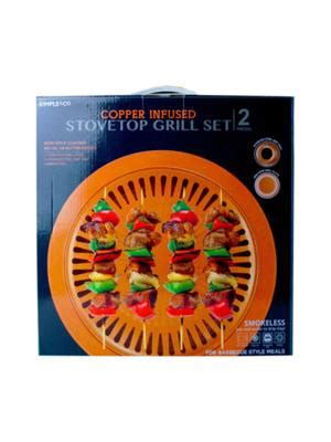 copper infused stovetop indoor smokeless grill