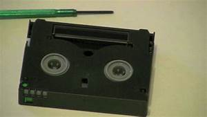 How To Repair A Minidv Tape  Part 1