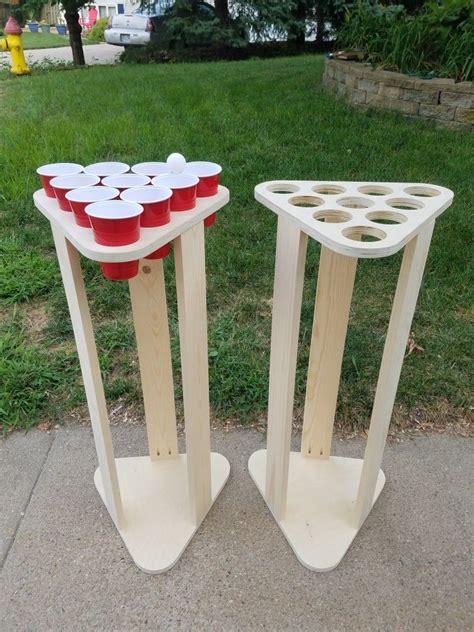beer pong stands diy yard games backyard diy projects