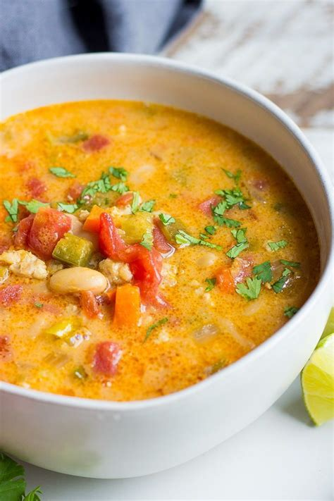 Loaded with chicken, beans, cheese, and lots of spices, this white chili has become a new favorite!! The BEST White Chili recipe made with ground chicken ...