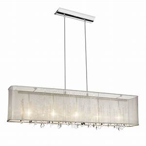 Bohemian light quot crystal linear pendant chandelier