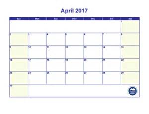 April 2017 Calendar with Holidays Printable