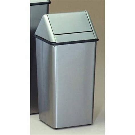 stainless steel kitchen garbage can witt 13 gallon stainless steel trash can swingtop witt