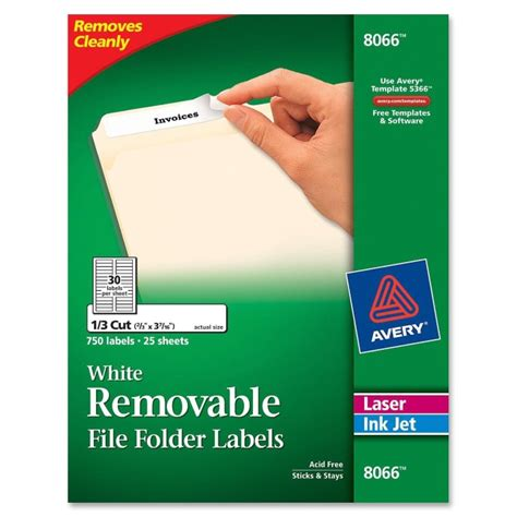 avery 8066 template avery 8066 removable laser inkjet filing labels removable adhesive 21 32 quot width x 3 7 16