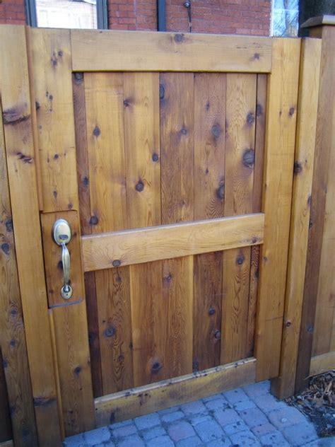 cedar fence  custom gates contemporary exterior