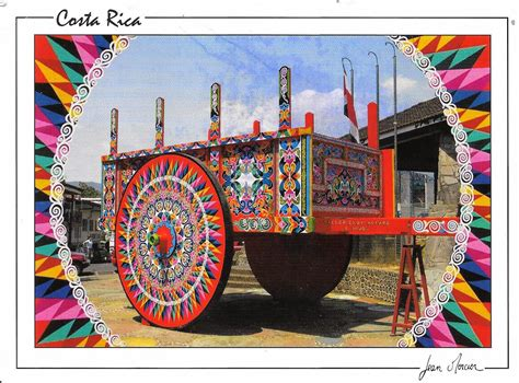 Mi Colección de Tarjetas Postales: Carreta Típica Costa Rica