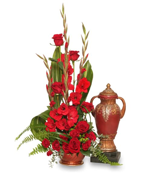 remembrance cremation flowers urn not included in